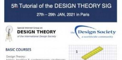5th Tutorial of the Design Theory SIG