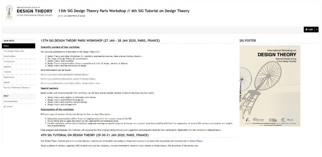 Design Theory Workshops